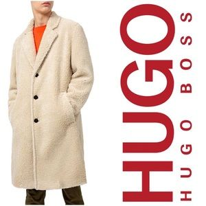 HUGO Hugo Boss Faux Fur Men's Teddy Coat Large